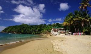 The beach at Castara Bay