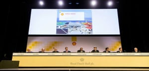 A Shell shareholders' meeting.