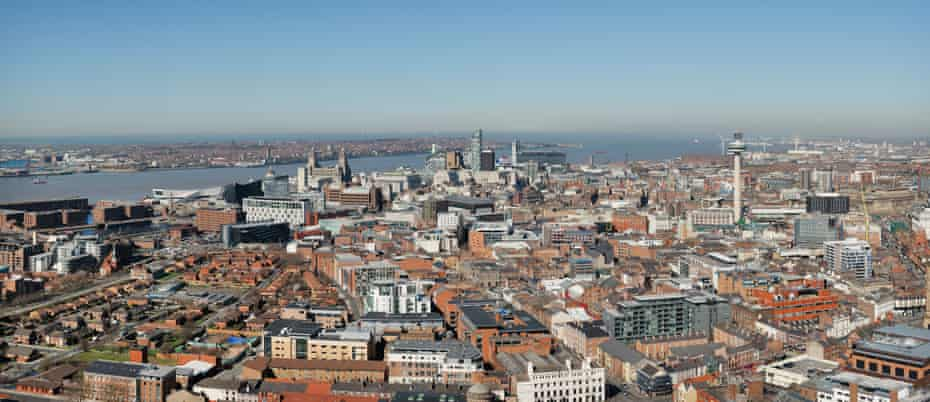 A panoramic view of Liverpool's city skyline.