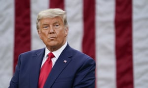 Trump at the White House on Friday. The president has pushed ahead in his increasingly desperate battle to overturn Joe Biden's victory.