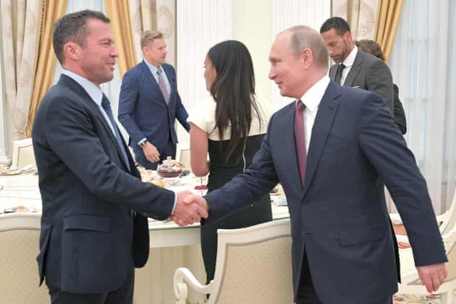 Lothar Matthäus met Russia's president Vladimir Putin at last summer's World Cup.