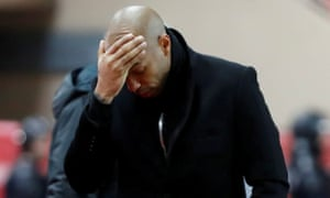 Thierry Henry's Monaco team lost their most recent league match 5-1 at home to Strasbourg.