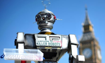 Mock killer robot
