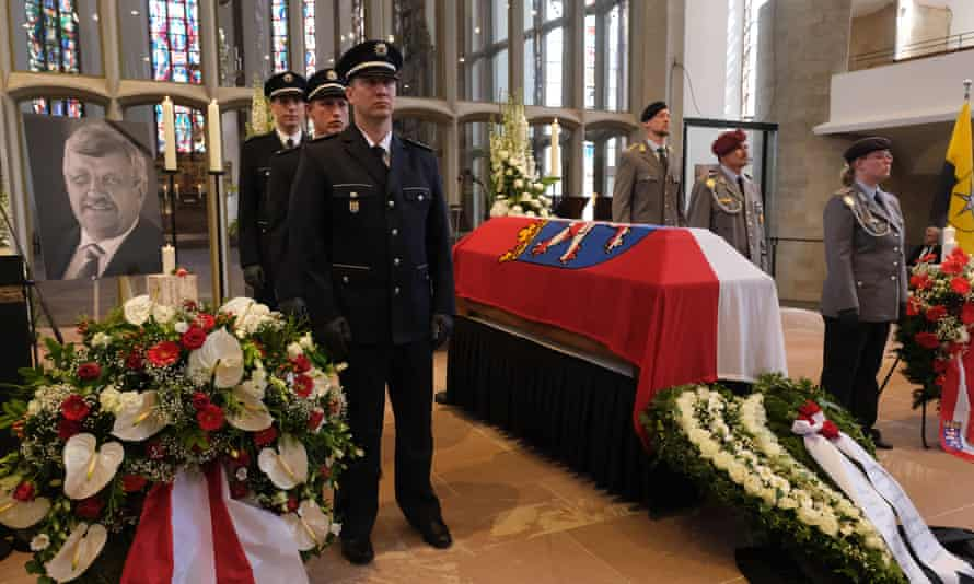 The funeral service on 13 June this year, in Kassel, Germany, for the murdered politician Walter Lübcke.
