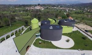 Museu do Azeita, Oliveira de Hospital, Portugal. (Olive Oil museum; aerial view).