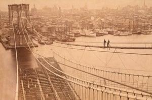 Brooklyn Bridge under construction…