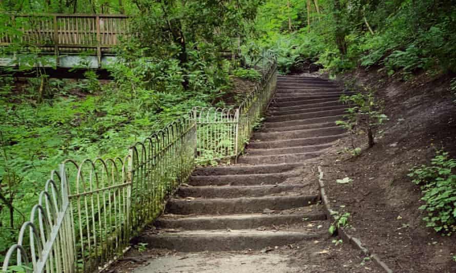Steps in Boggart Hole Clough, Blackley