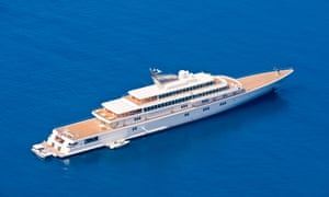 'Isolated in the Grenadines' ... David Geffen posted from his super yacht, Rising Sun. Photograph: Jeff Morgan/Alamy stock photo