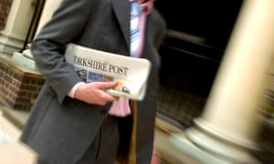 A copy of Johnston Press' publication the Yorkshire Post.
