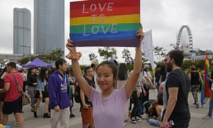 Participants attend the annual Pride Parade In Hong Kong on 17 November