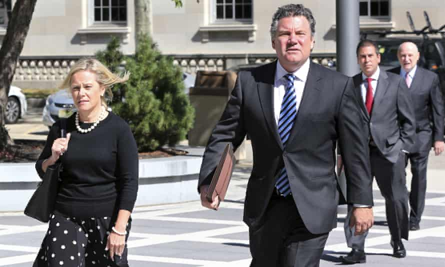 Bridget Anne Kelly, Christie's deputy chief of staff, arrives at federal court for a hearing on 7 September.