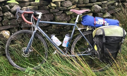 Martin Love's temple bike leaning against a wall