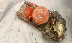 The first picture of the flight data recorder from Ethiopian Airlines Flight 302.