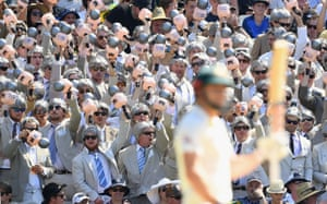Spectators dressed as Richie Benaud at the fourth Ashes test match between Australia and England