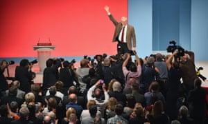 Jeremy Corbyn at the Labour party's autumn conference last year