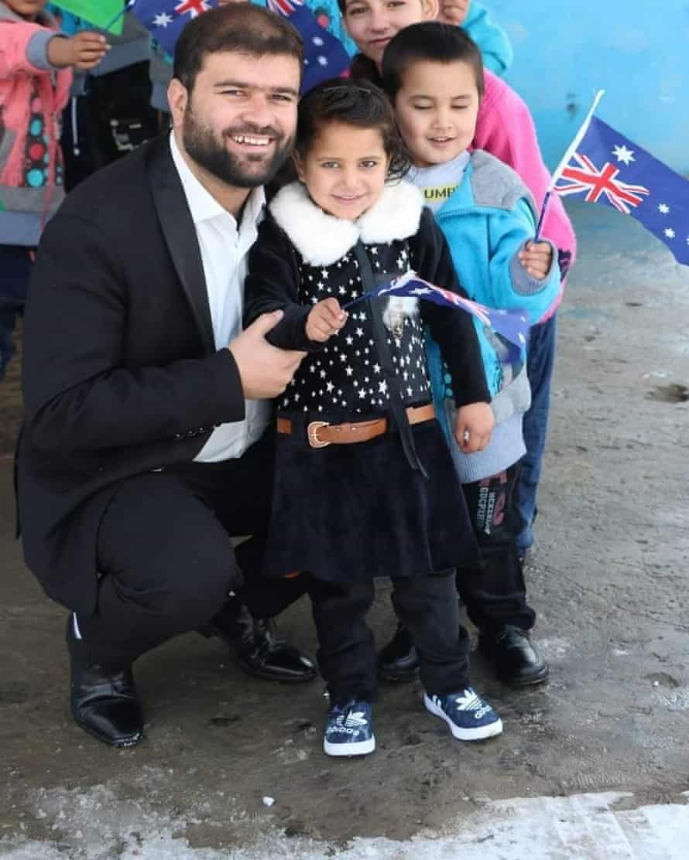 Khalid with his children