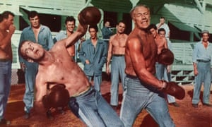 Paul Newman, George Kennedy and Harry Dean Stanton in Cool Hand Luke, 1967