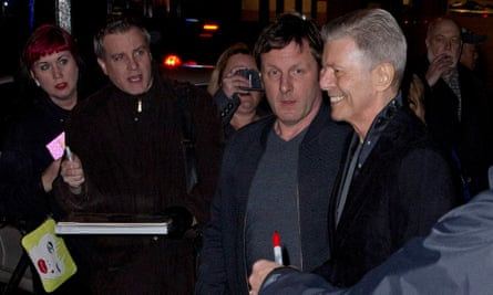 Bowie at the Theatre Workshop in New York for the premiere of Lazarus in December 2015.