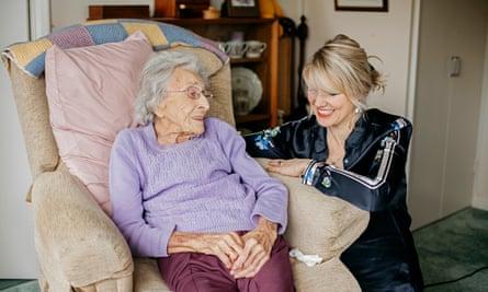 Tessa Dunlop with Edna, 102.