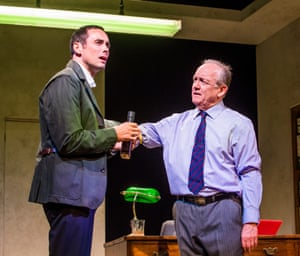 Elegant … Shepherd as MP and Bruce Alexander as Chief Whip in Stella Feehily's How to Get Ahead in Politics