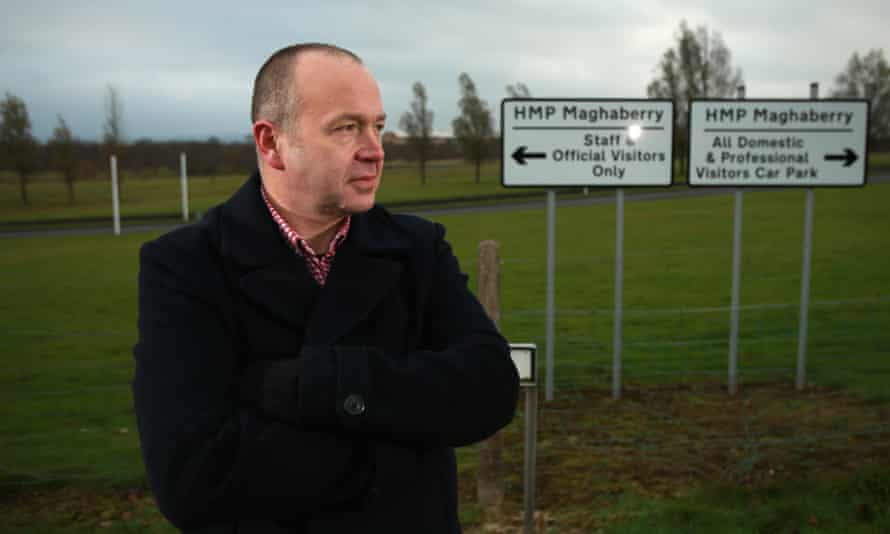 Ciaran McWilliams outside HMP Maghaberry