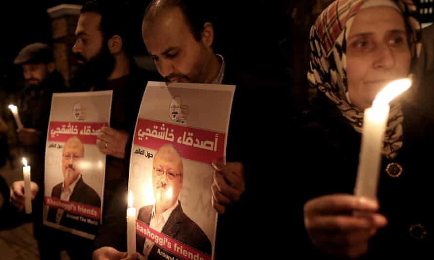 A vigil is held for Jamal Khashoggi in Istanbul, as pressure is piled on the Saudis over his killing.