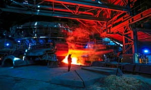 The British Steel plant in Scunthorpe, North Lincolnshire.
