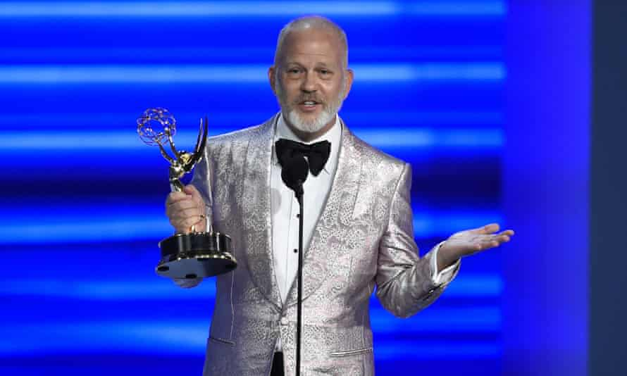 Ryan Murphy receiving an Emmy for The Assassination of Gianni Versace.