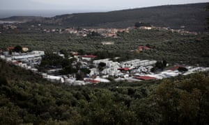 The Moria camp on Lesbos.