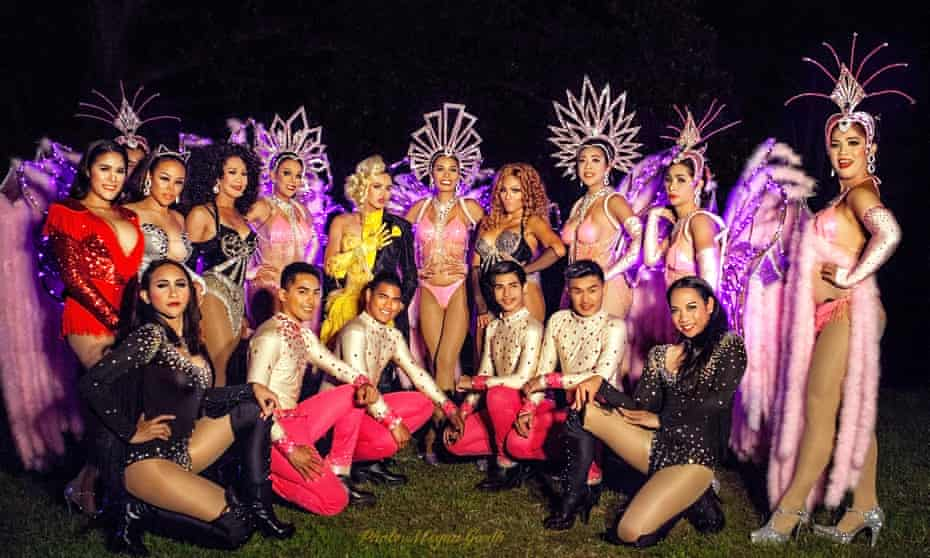 Thai performers in Newcastle with Thanyakarn Rattanarak pictured wearing black in the bottom right.