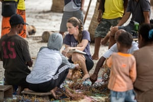 Louise Glew, the lead scientist for monitoring and evaulation at WWF, conducts a focus group with fishers from Pulau Nai, Kei Kecil. Along with her colleague, senior marine scientist Gabby Ahmadia, the two women are attempting to disentagle some of the myths about MPAs in the archipelago.