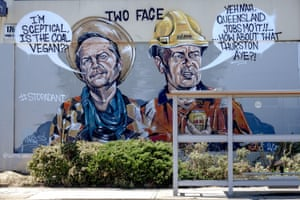 A mural of Bill Shorten is seen along High Street, in the Melbourne suburb Preston, which is located in the federal electorate of Batman.