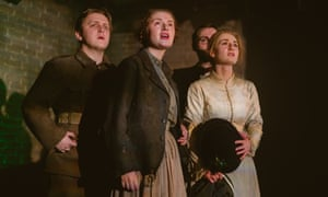 Luke Maddison, Lauren Waine and Charlotte Ryder in The War of the Worlds.