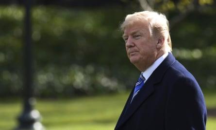 US president Donald Trump in Washington.