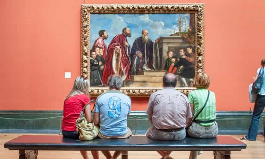 Visitors at National Gallery