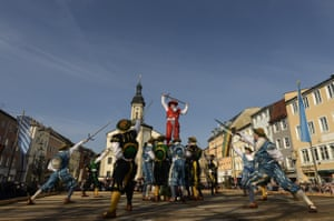 The swordsmen's dance