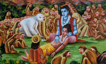 A scene from the Hindu text Ramayana