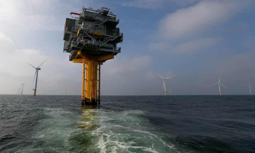 Power-generating windmill turbines near Amsterdam, Netherlands.