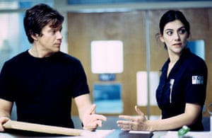 Max Beesley as Rob and Neve McIntosh as Donna.