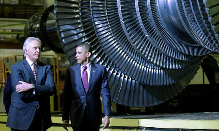 President Obama toured GE's Schenectady plant with CEO Jeffrey Immelt in 2011