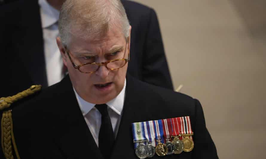 Prince Andrew at a commemoration service in Manchester for the Battle of the Somme centenary.