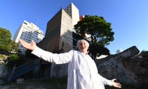 José Celso Martinez Corrêa, the director of Teatro Oficina, whose environs are under threat from property developers.
