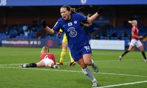 Fran Kirby scored the second for Chelsea just four minutes after Lauren James had equalised for Manchester United.