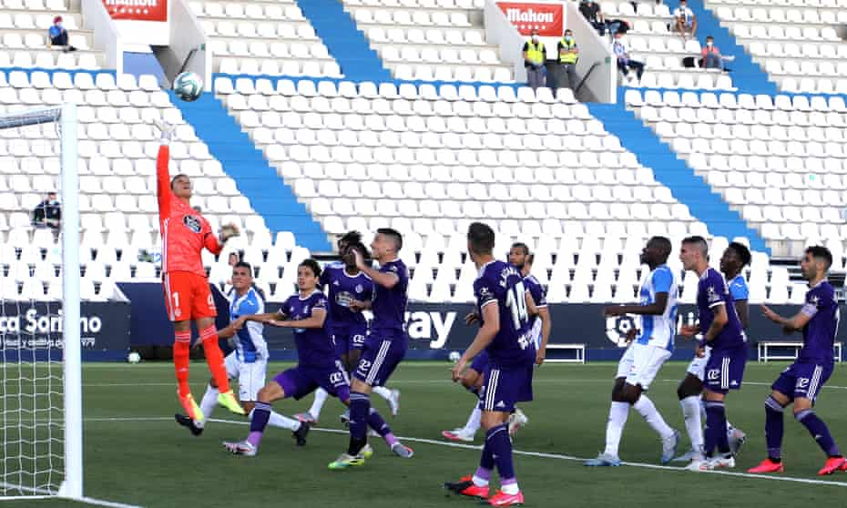 Leganés force the Valladolid goalkeeper Jordi Masip into a save but defeat meant they ended the game three points from safety.