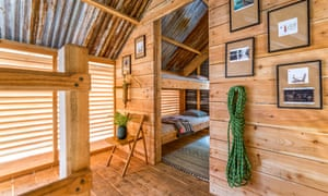 Cabin at Kudhva, near Tintagel, Cornwall, UK.
