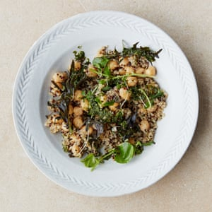 Cyrus Todiwala. Spicy summer salads Quinoa and chickpeas with Indian chimichurri