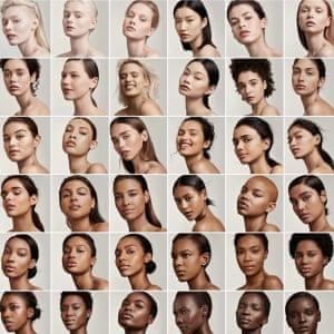 An advert for Rihanna's beauty company, Fenty Beauty.