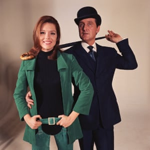 Diana Rigg and Patrick Macnee star as Emma Peel and John Steed in The Avengers