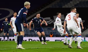 Scotland's John McGinn fires in the opening goal of the game.