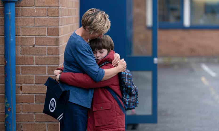 Heather (Julie Hesmondhalgh) and Joe (Max Vento) in The A Word.